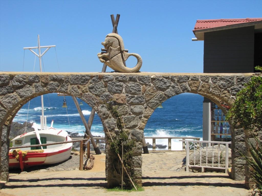 Vue sur la mer pour la maison de Pablo Neruda de la Isla Negra