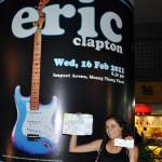 Eric Clapton à Bangkok pour le prix d'un sourire