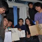 Modèles d'un soir pour des étudiants en art dans un train chinois