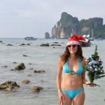 Joyeux Noël sur la plage de Koh Phi Phi, Thaïlande