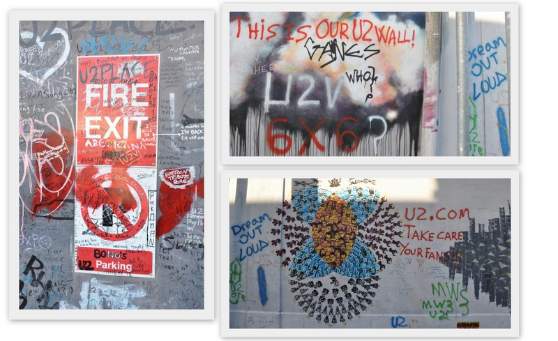 U2 wall à dublin en irlande