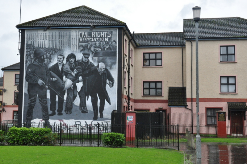 Le mural du Bloody Sunday à Derry