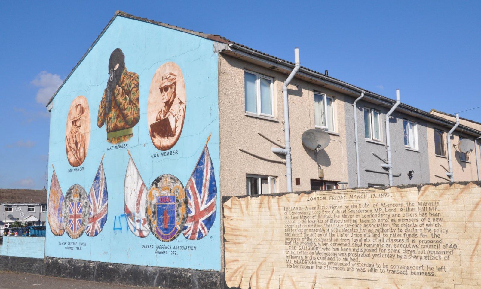 Un mural loyaliste à Belfast