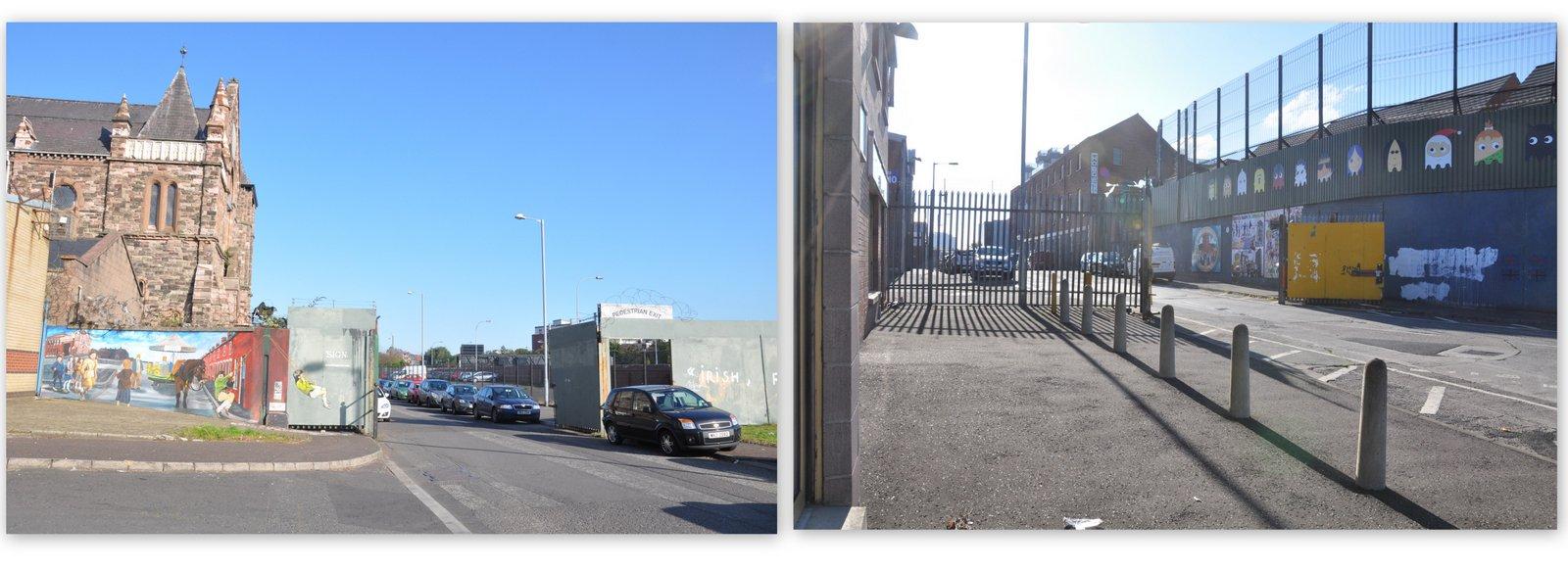A Belfast, les portes se ferment le soir pour éviter les émeutes entre quartiers