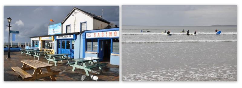 La cité balnéaire de Strandhill, dans le nord-ouest de l'Irlande, réputée pour le surf