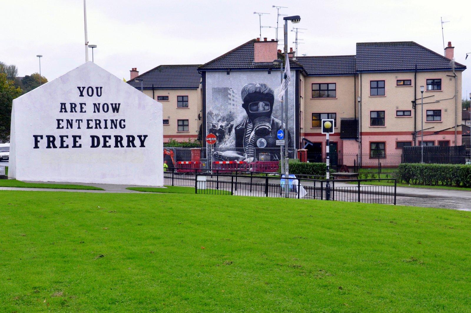 Le Free Derry corner à Derry