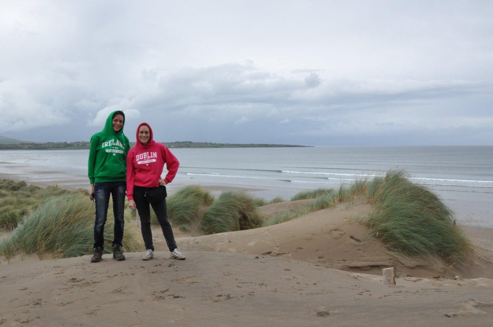 Avec Emily sur les dunes de Strandhill