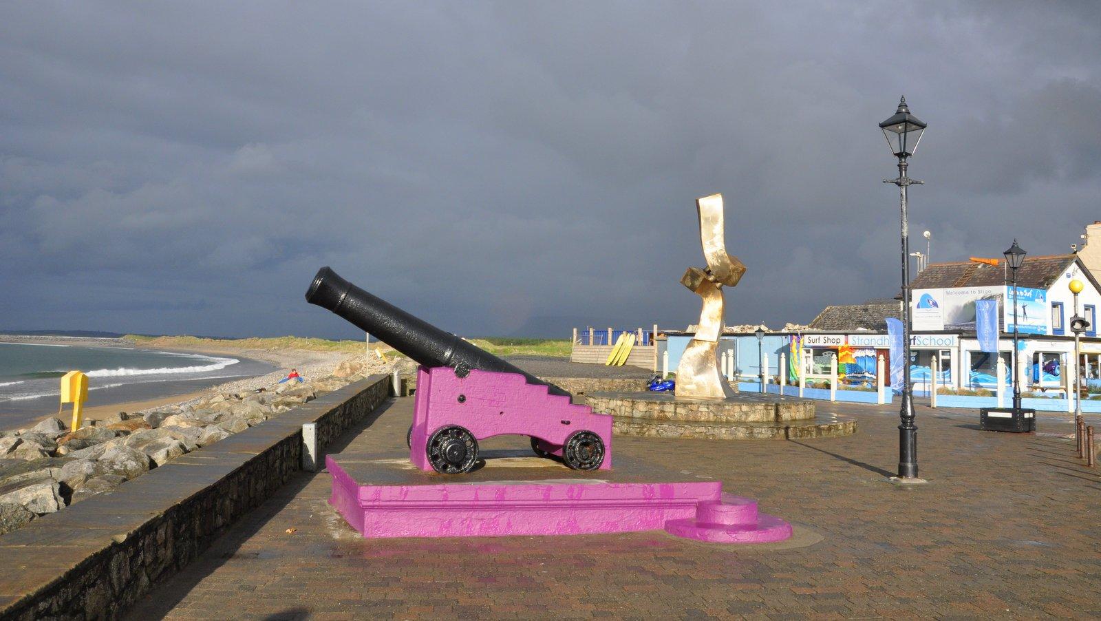 La plage de Strandhill près de Sligo