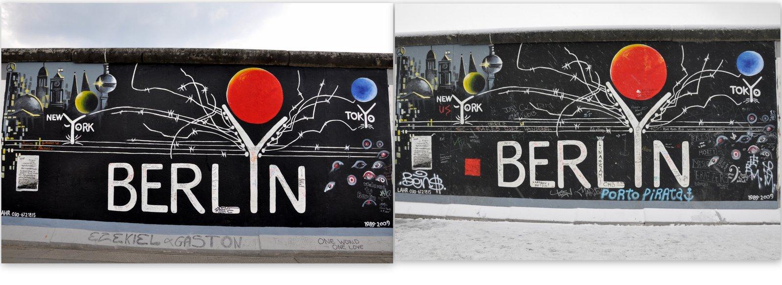 De 2010 à 2014... La East Side Gallery à Berlin