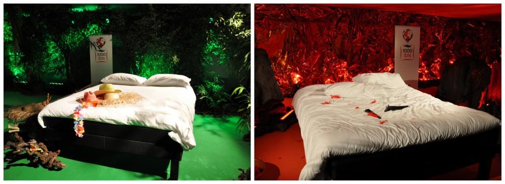 """Les lits """"Sweet bed"""" by Ibis... Vous êtes plutôt ambiance jungle ou volcan?"""