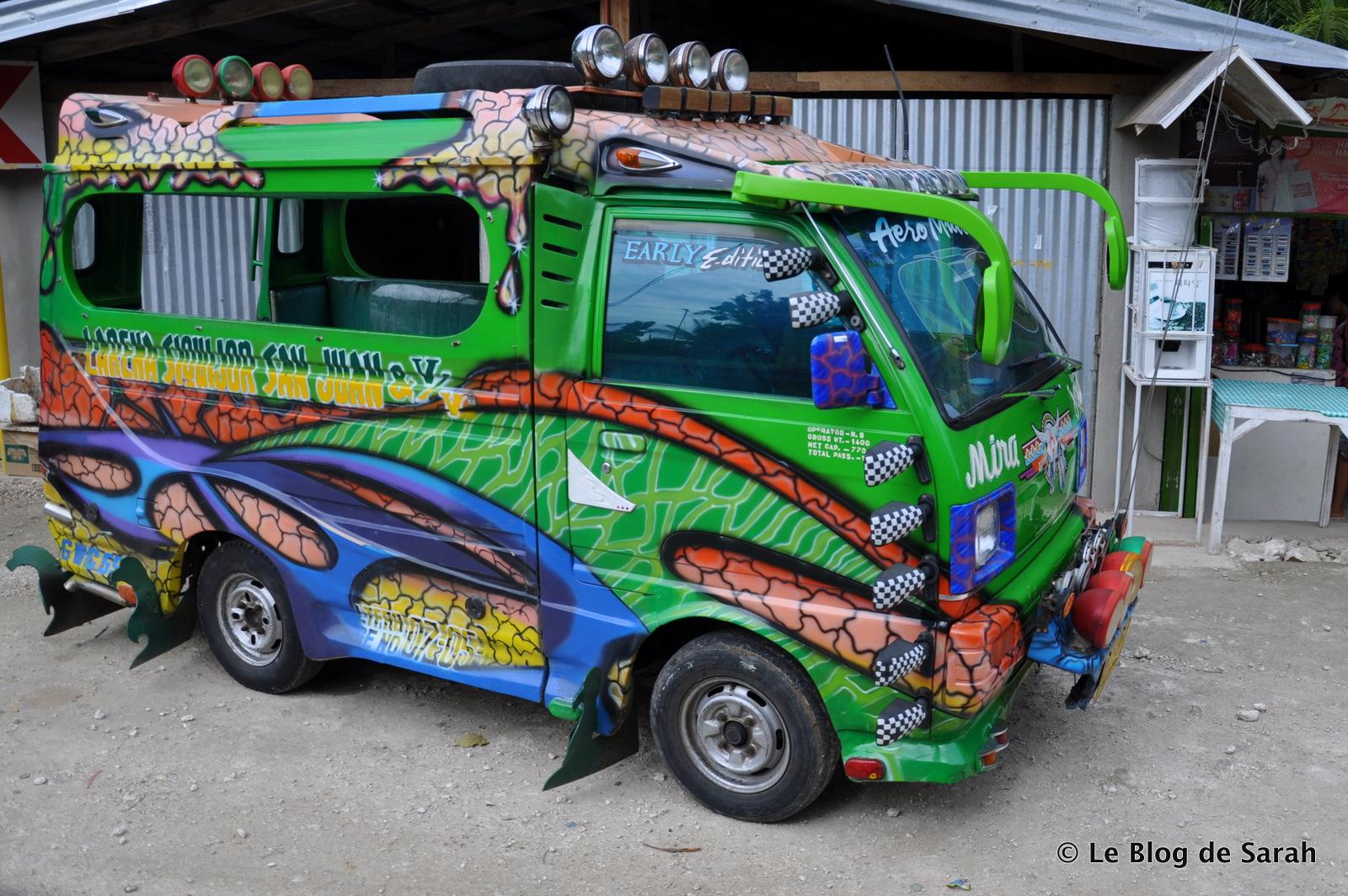 Un camion sur l'île de Siquijor aux Philippines