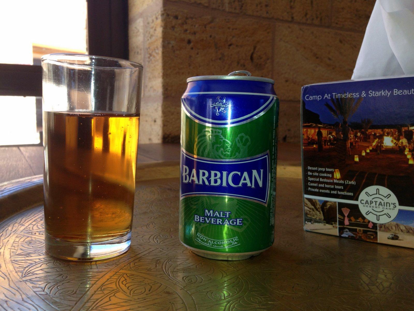 La barbican, une bière sans alcool importée d'Arabie Saoudite