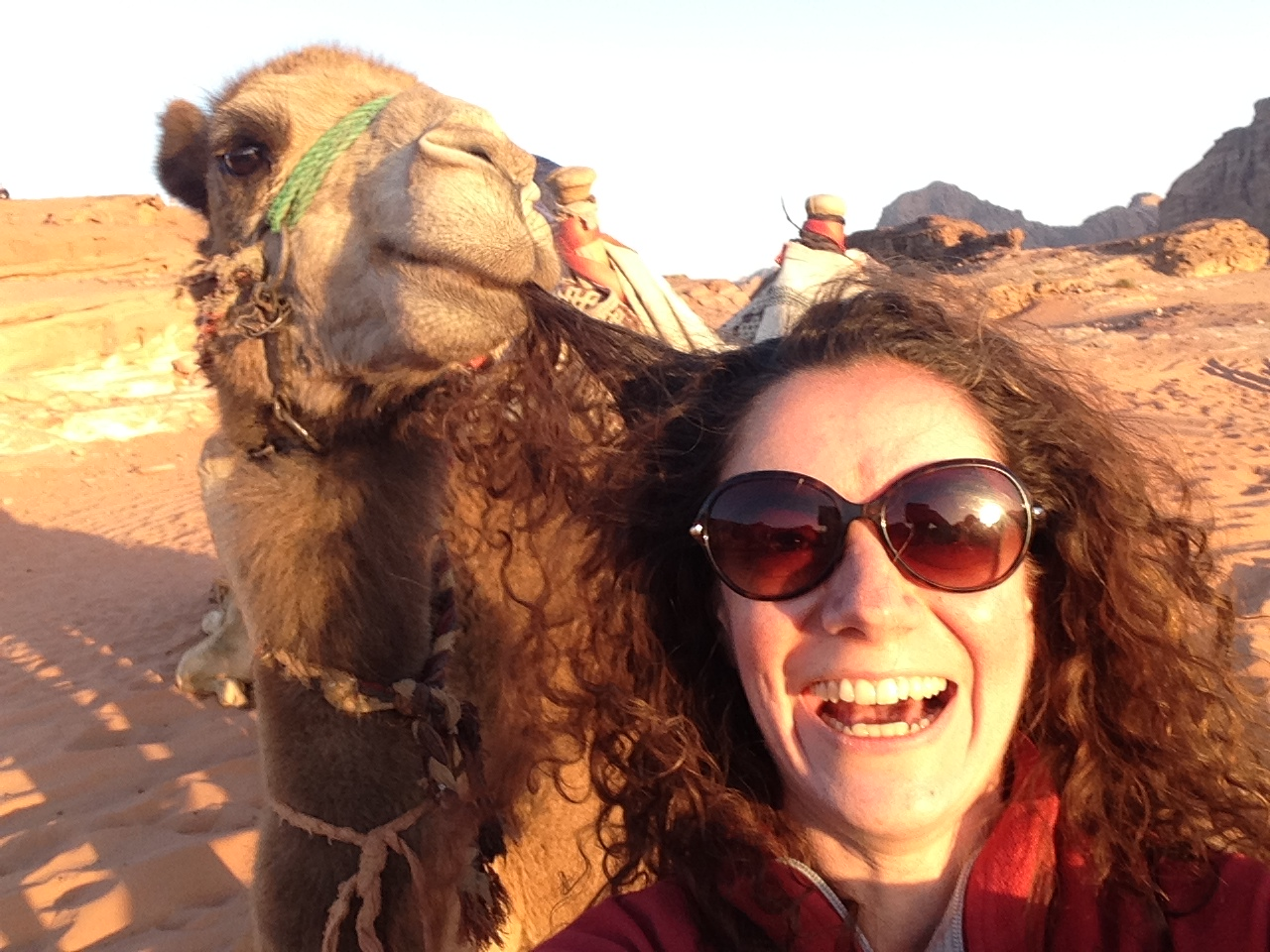 selfie dromadaire jordanie