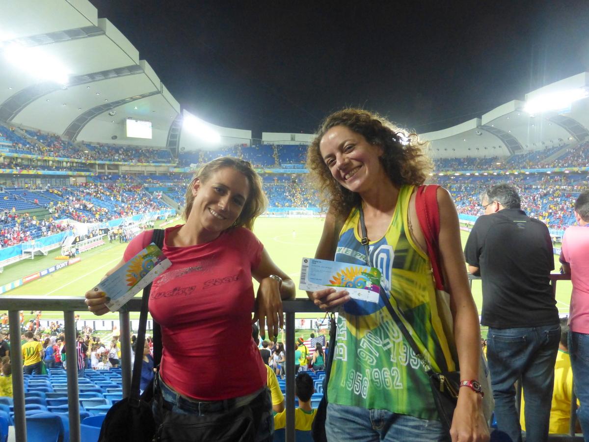 Dans les tribunes du stade de Natal pour le match Etats-Unis Ghana