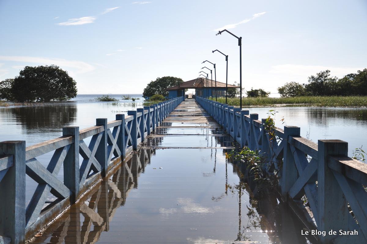 Le ponton inondé d'Alter do Chao