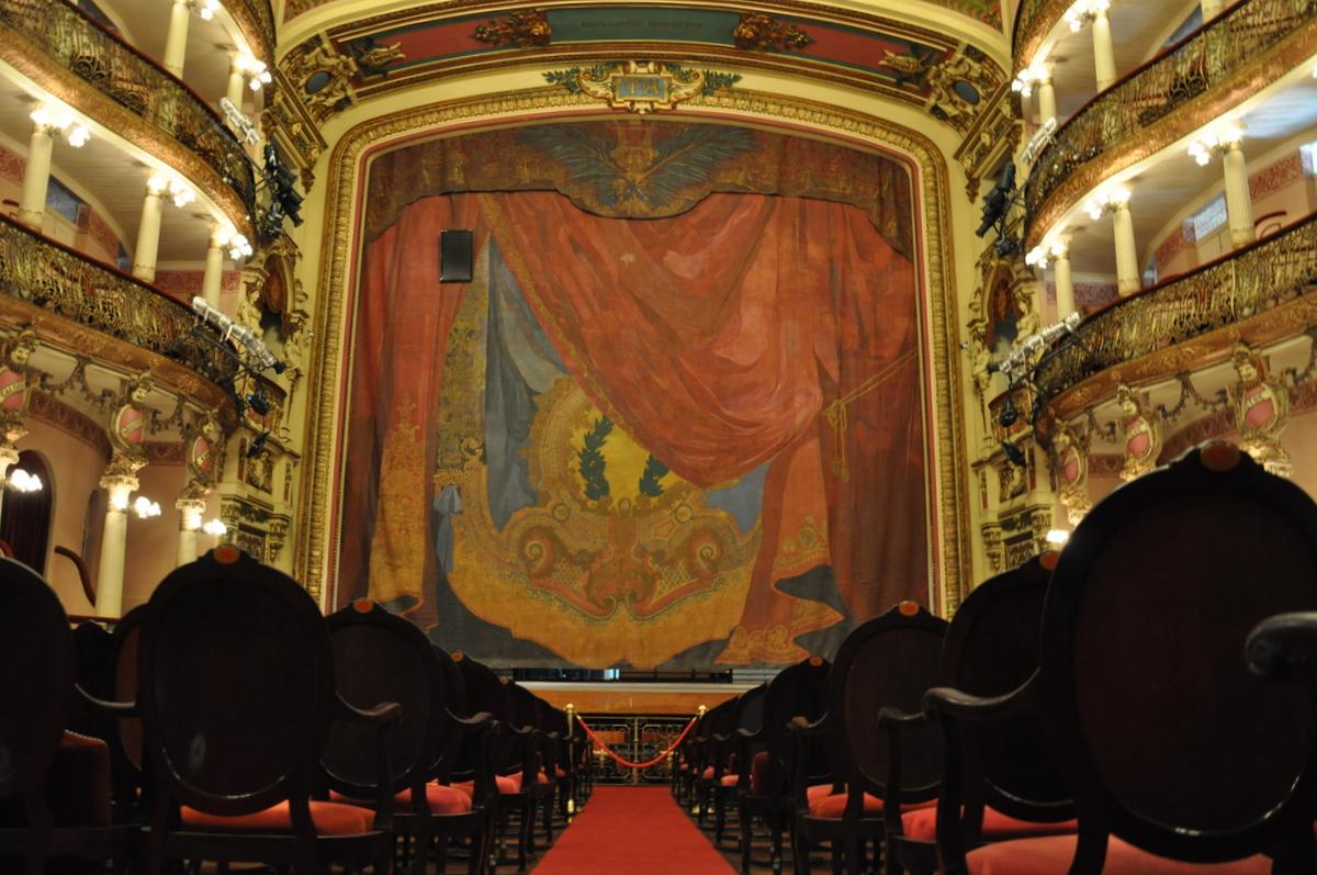 La salle de spectacle du Teatro Amazonas de Manaus