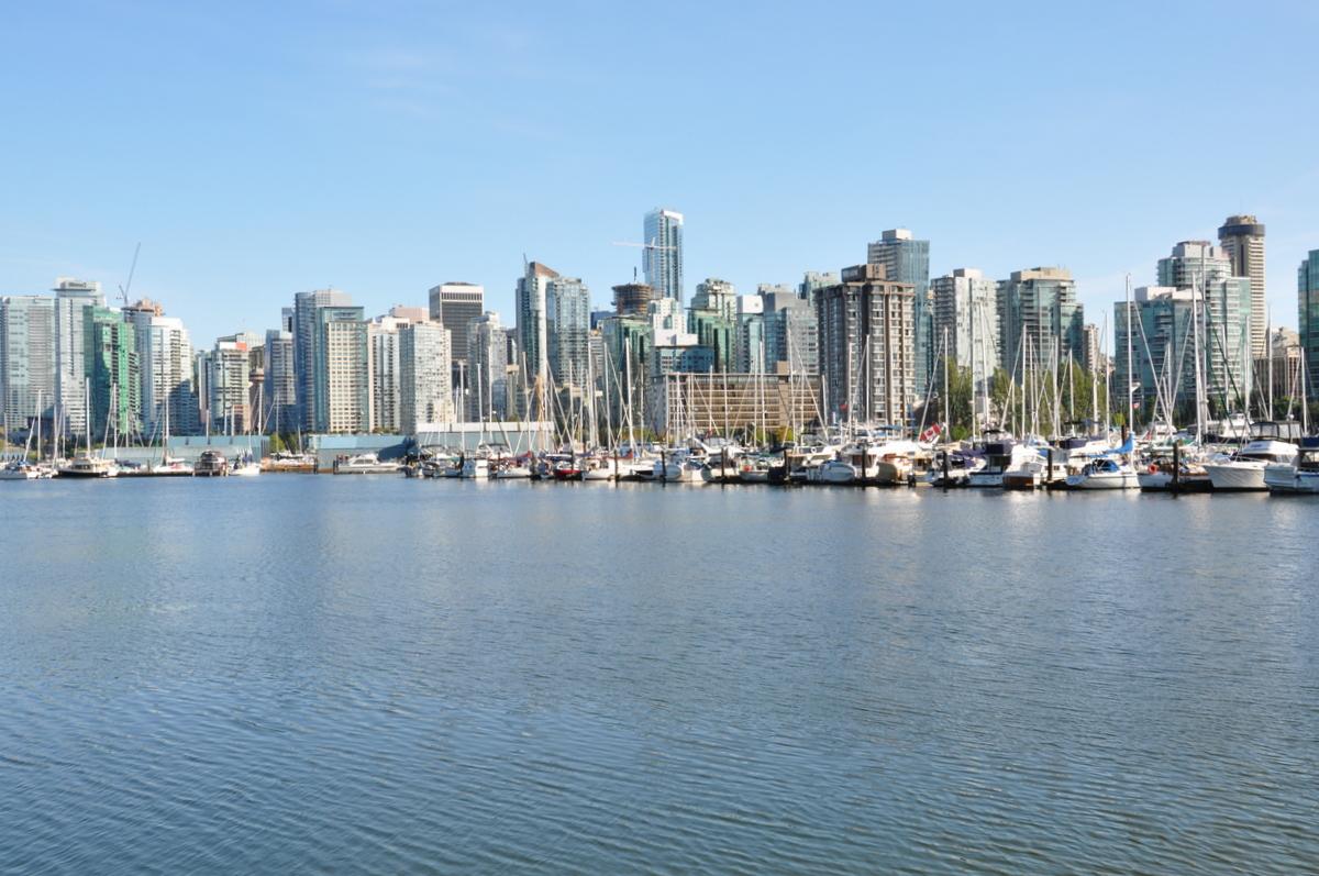 La skyline de Vancouver vue de Stanley Park