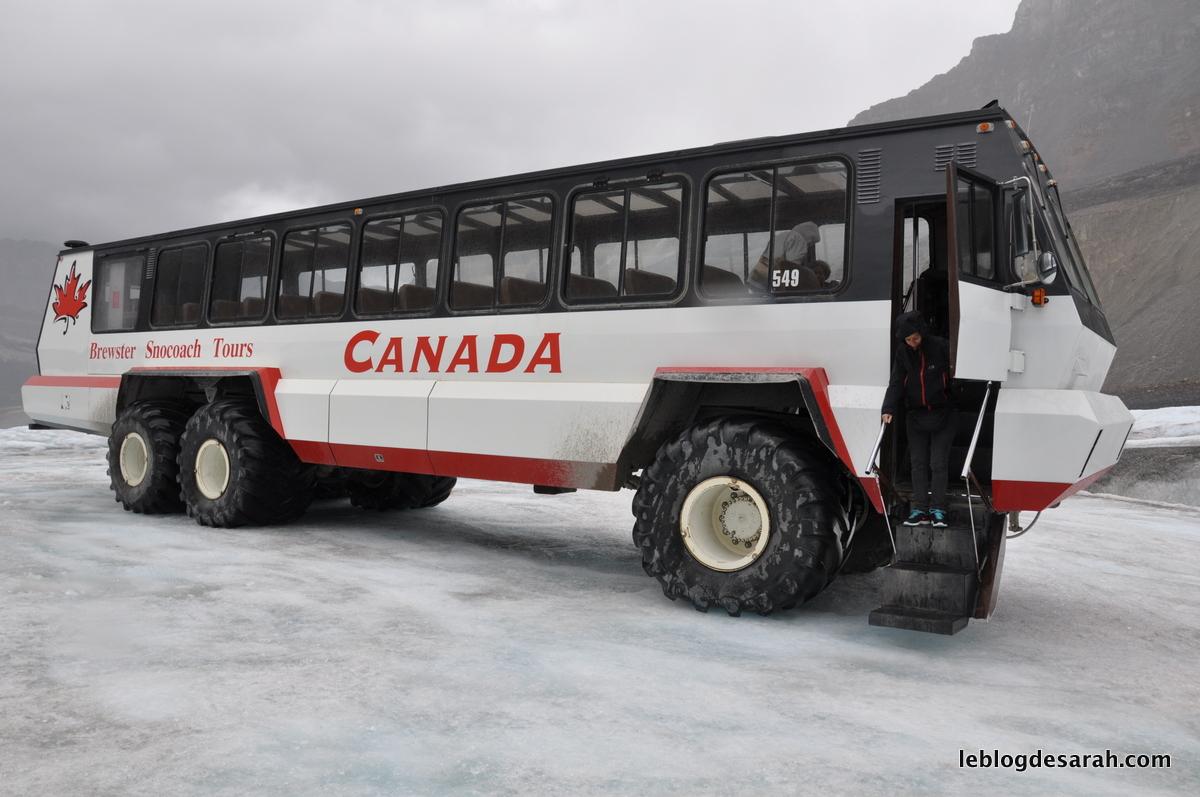 Le Brewster Ice Explorer qui peut rouler sur le glacier