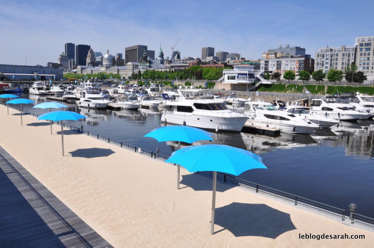 La plage de Montréal sur le Vieux-Port
