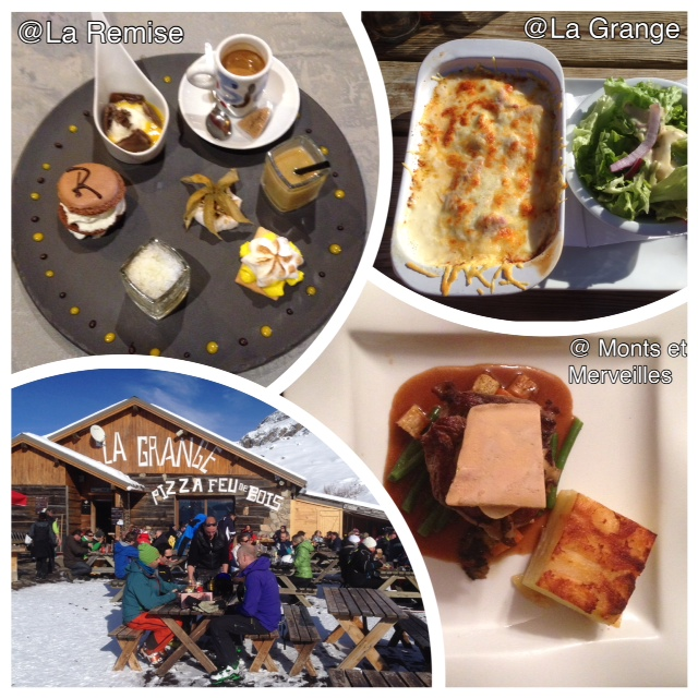 Café (très) gourmand à La Remise à Vaujany, Croûte montagnarde à La Grange, et filet de boeuf aux champignons, foie gras et gratin dauphinois par le traiteur à domicile Monts et Merveilles