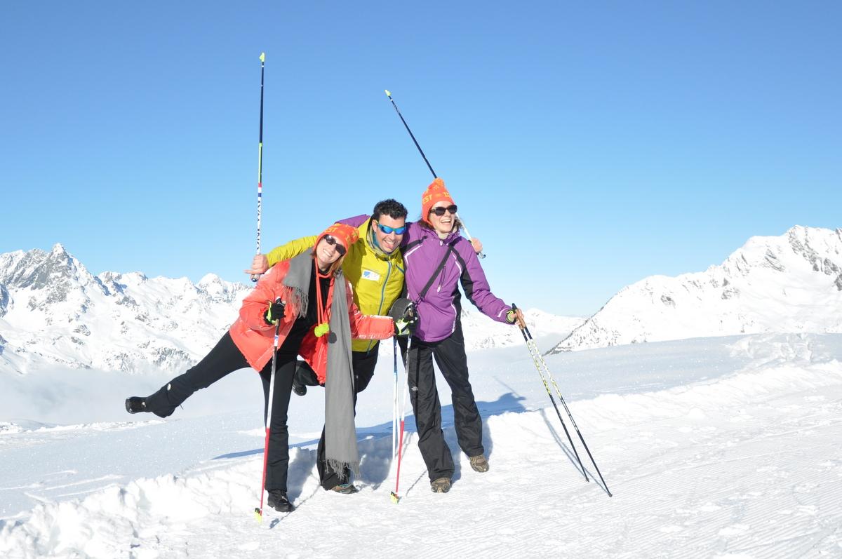 Fin de séance de marche nordique avec le champion Mathieu Rougier