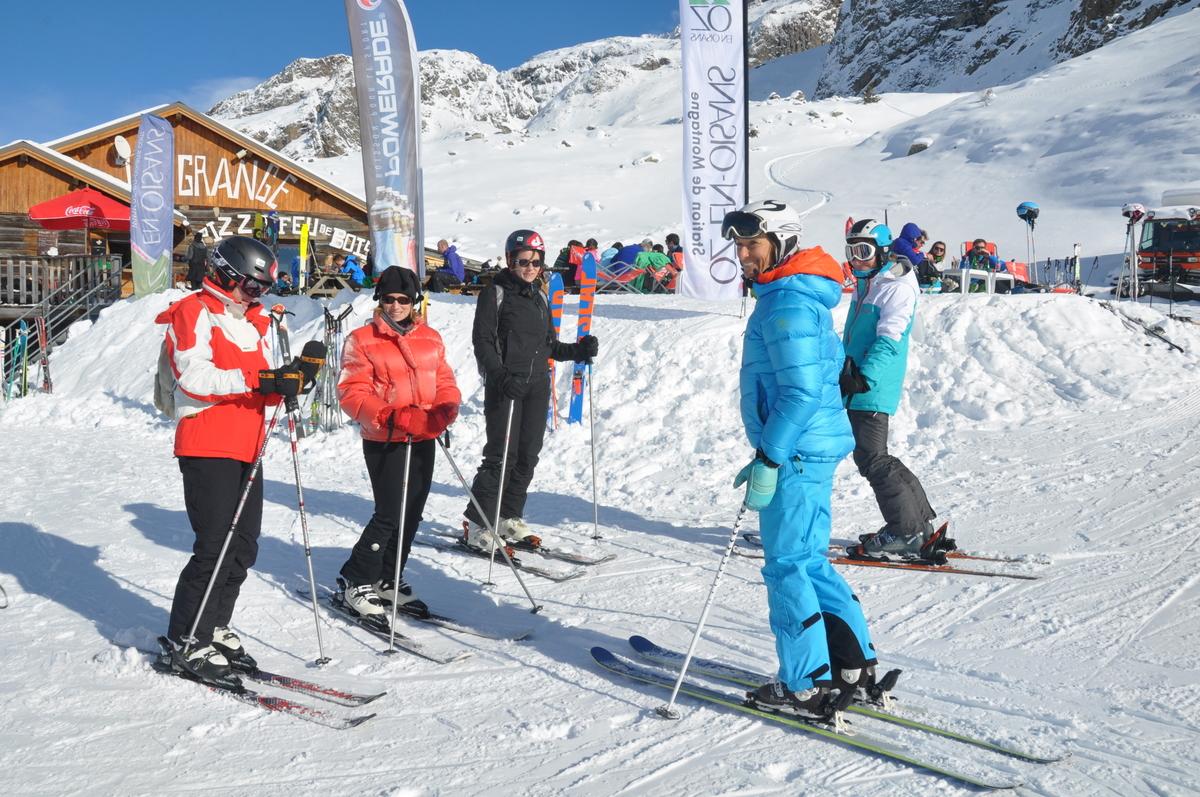 Cours de ski avec Barbara Maublanc