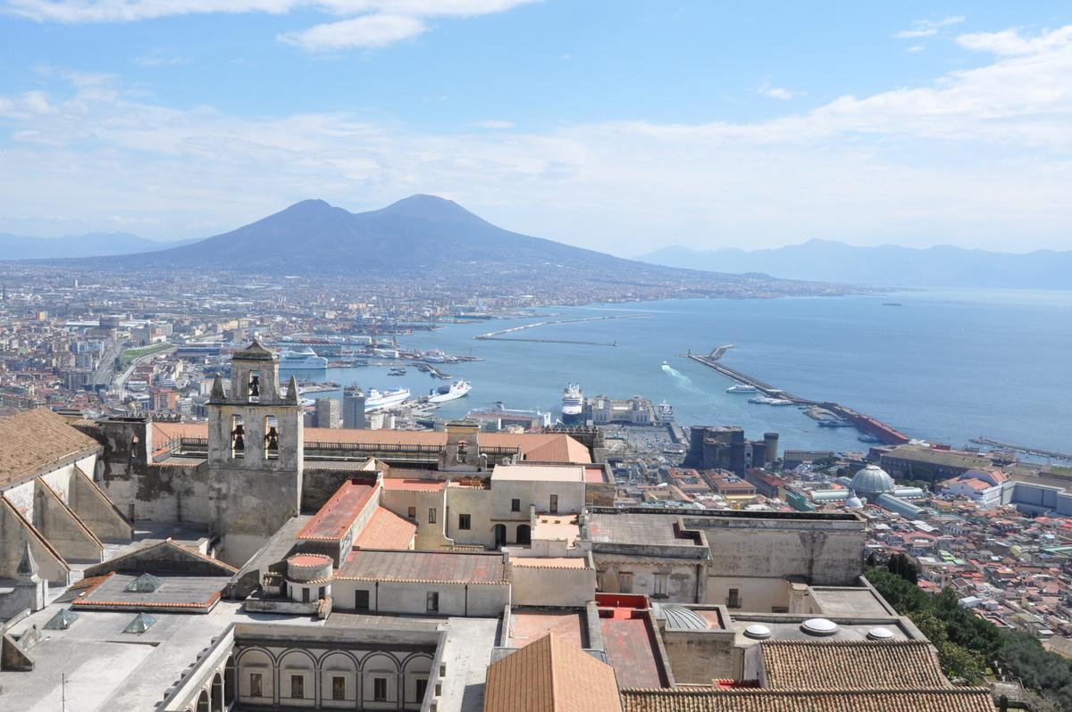 Vue de Naples et du Vésuve depuis le Castel Sant'Elmo