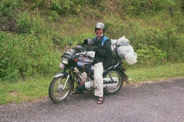 Mon motard Easy Rider qui m'a conduit de Dalat à Mui Ne