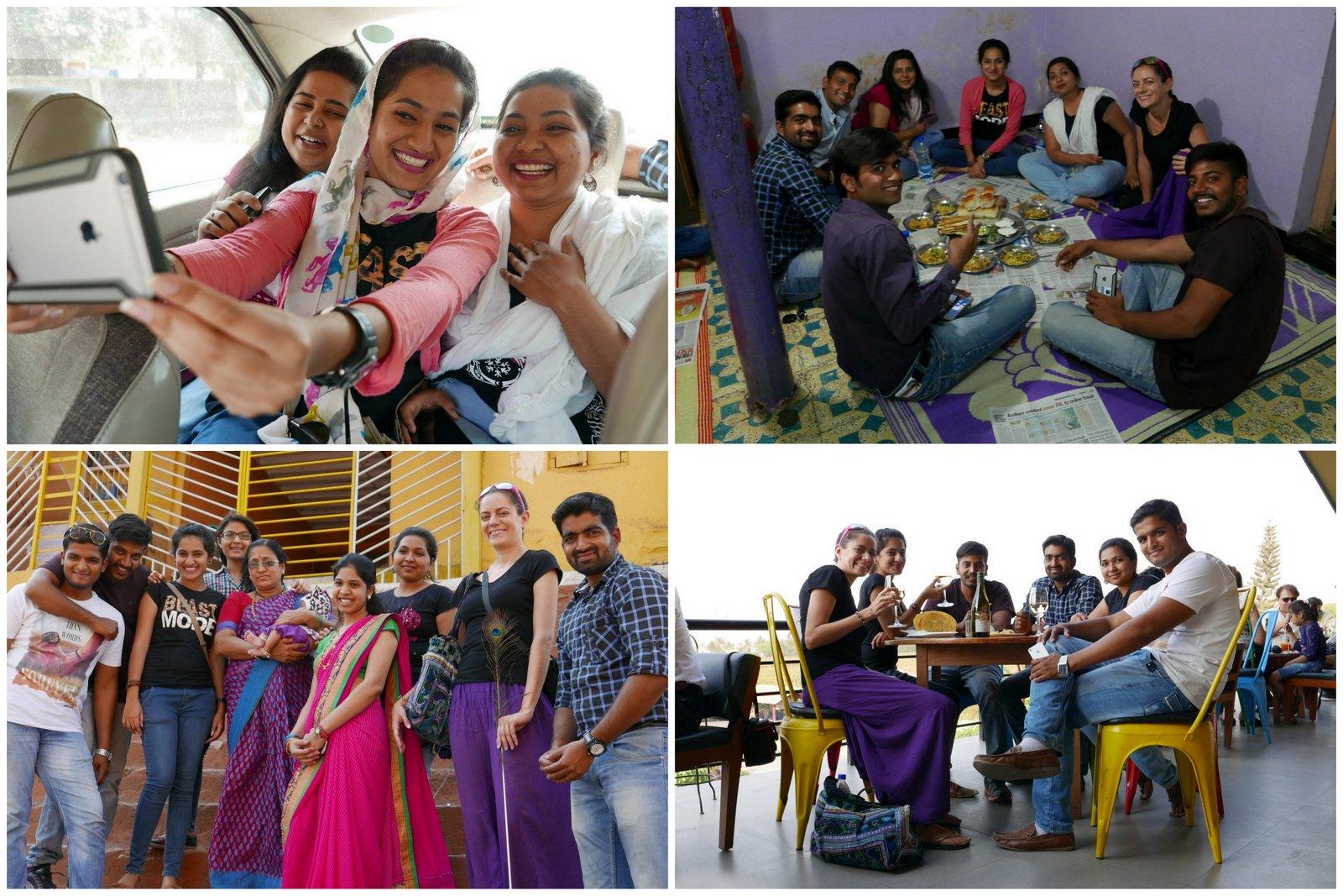Super journée à Nashik avec Priti, Vaishnavi et ses amis après la retraite de méditation