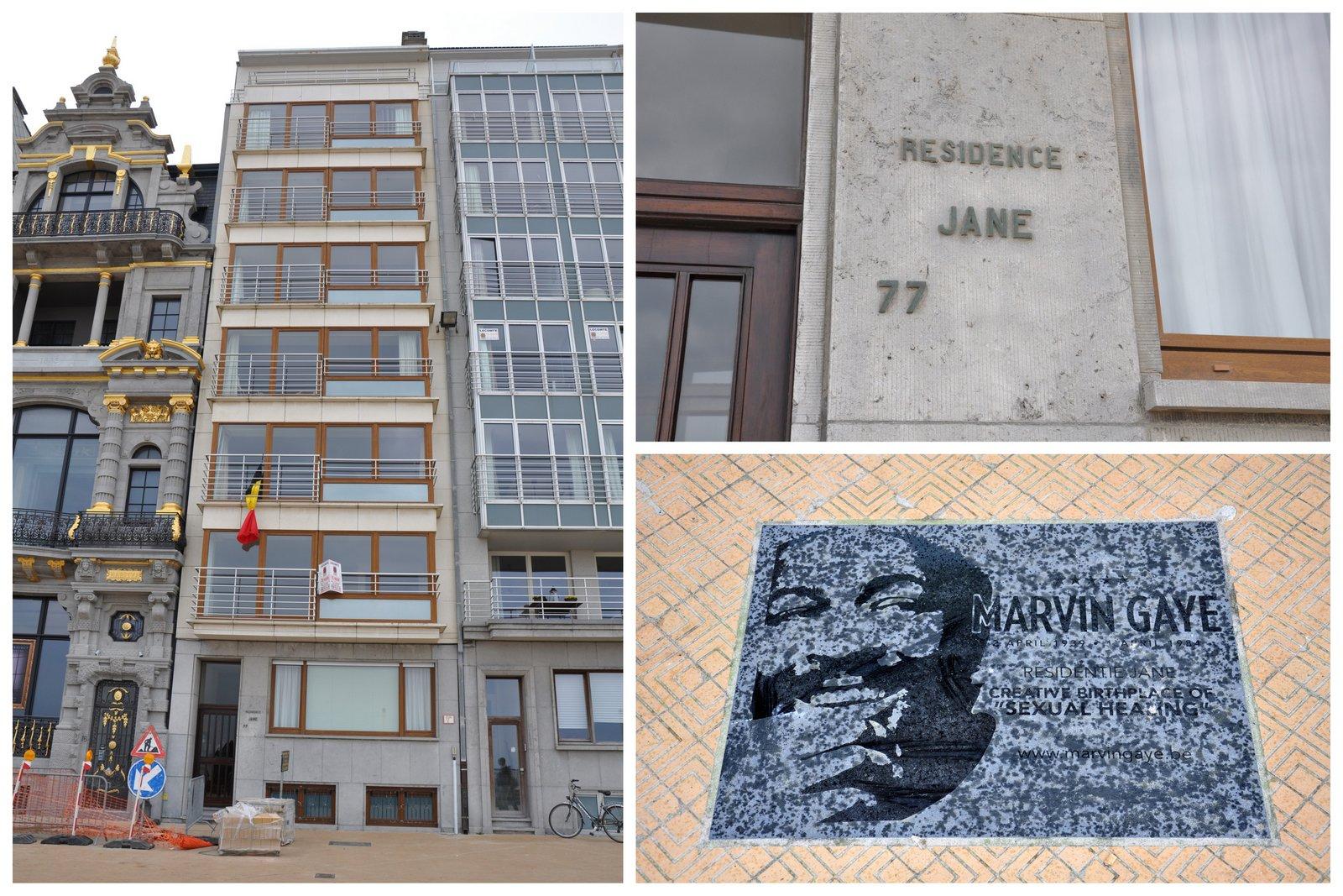 L'immeuble où Marvin Gaye a habité et composé Sexual Healing à Ostende