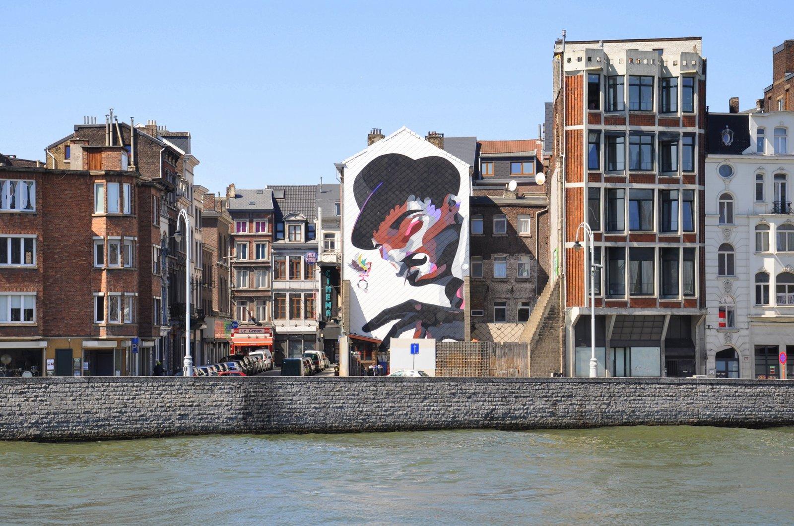 Oeuvre murale de l'artiste belge Sozyone à Liège