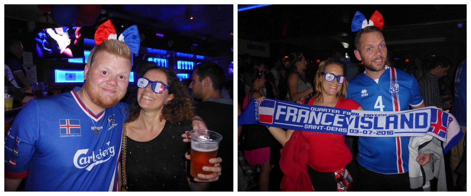 La fête avec les supporters islandais à la veille du match au bar O'Sullivan's à Pigalle