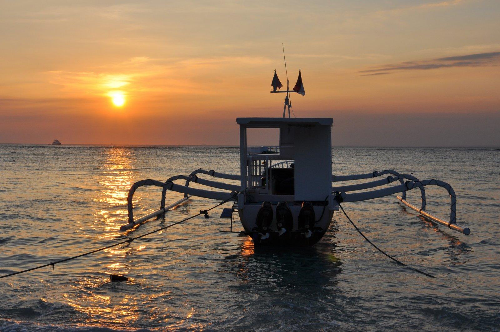 Coucher de soleil sur Nusa Lembongan