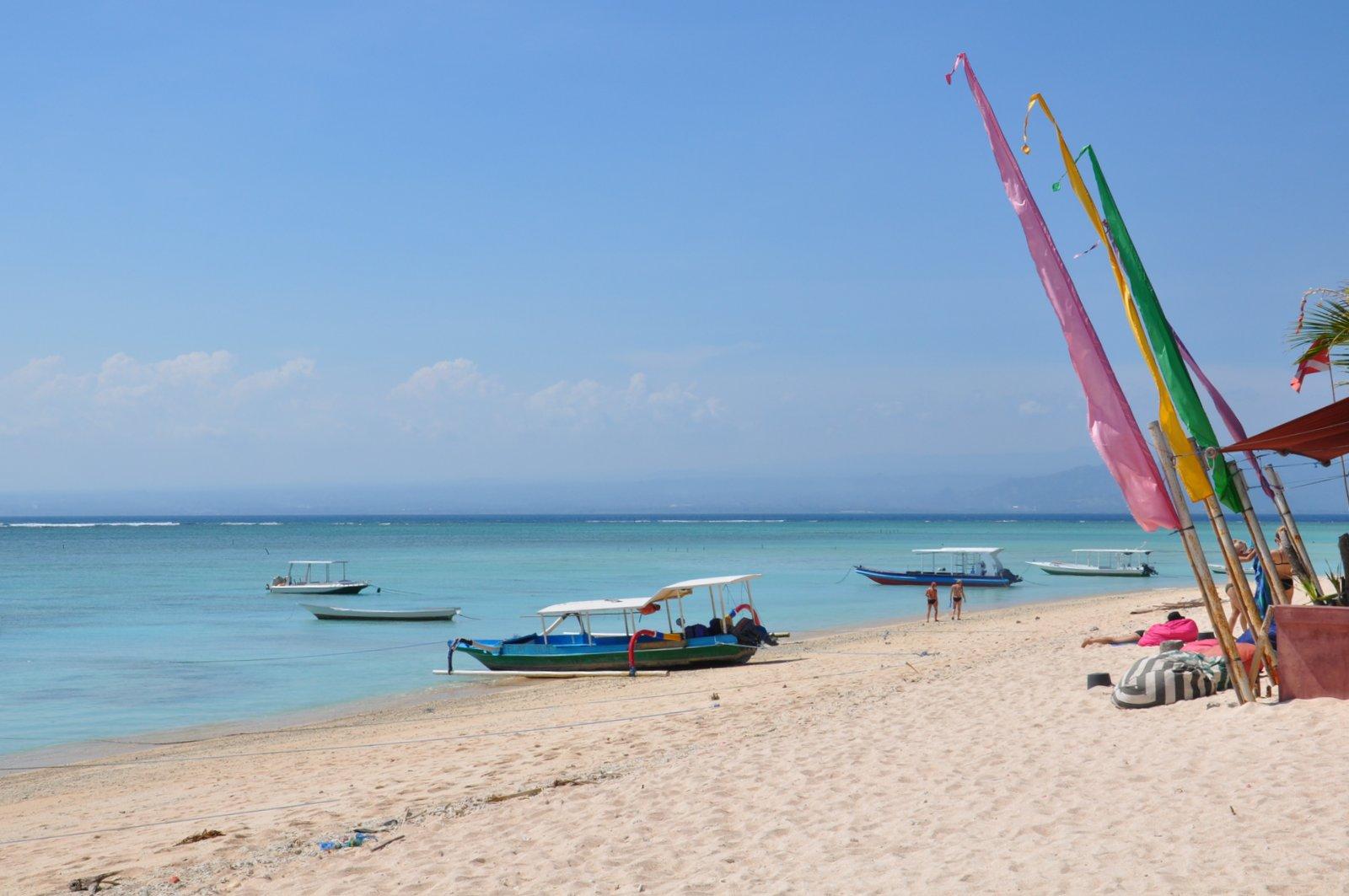 La plage de Jungutbatu à Nusa Lembongan