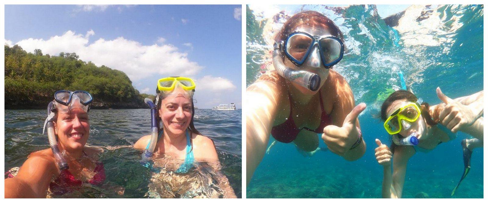 Snorkeling à Nusa Lembongan. Crédit photo: Lucie Aidart, Voyages et Vagabondages