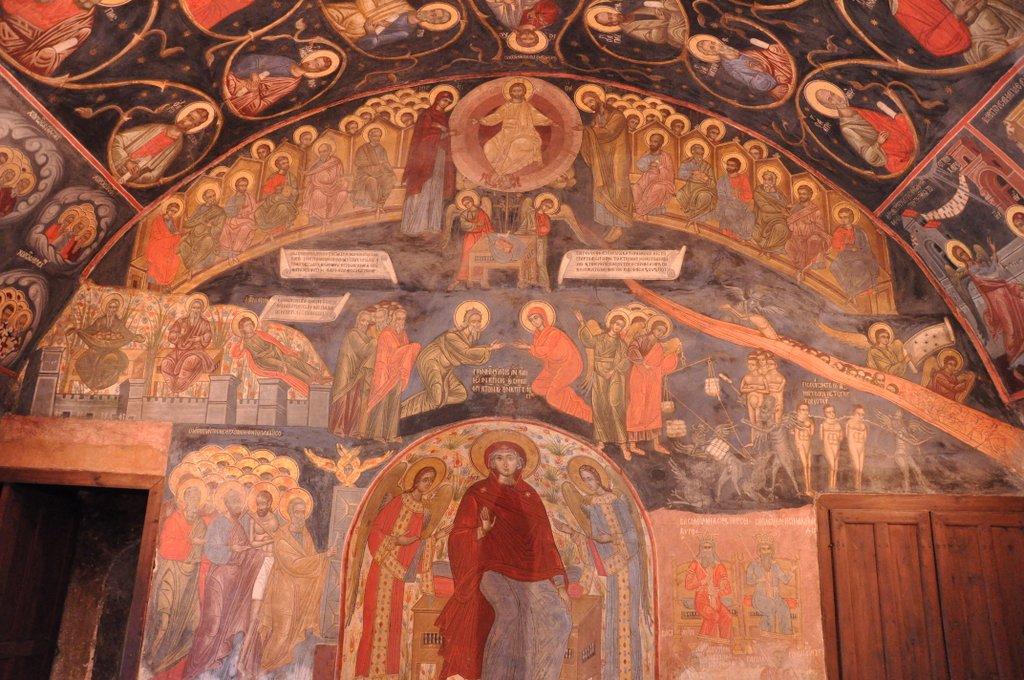 Les fresques du réfectoire du monastère de Batchkovo