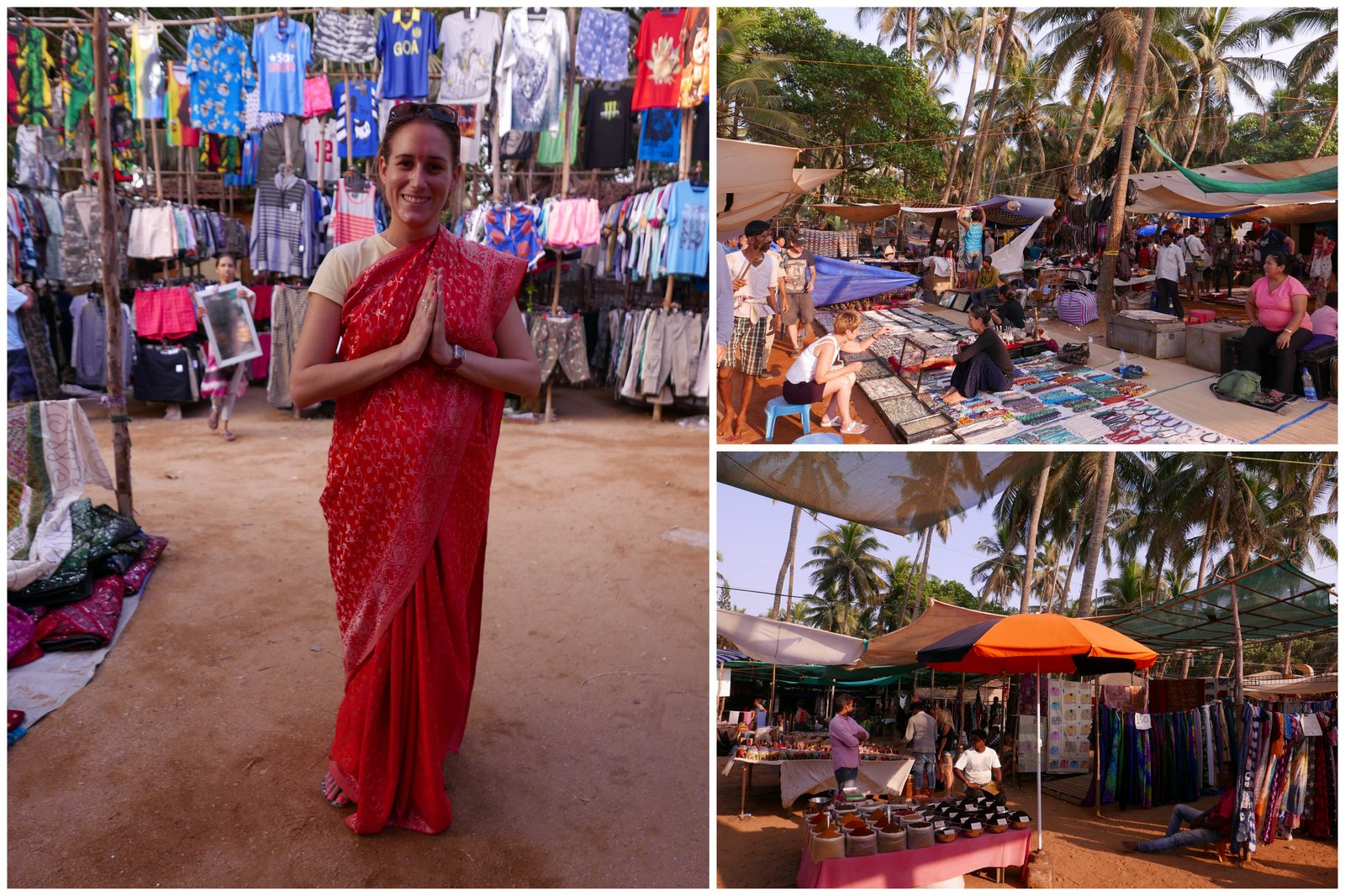 Le marché du mercredi d'Anjuna