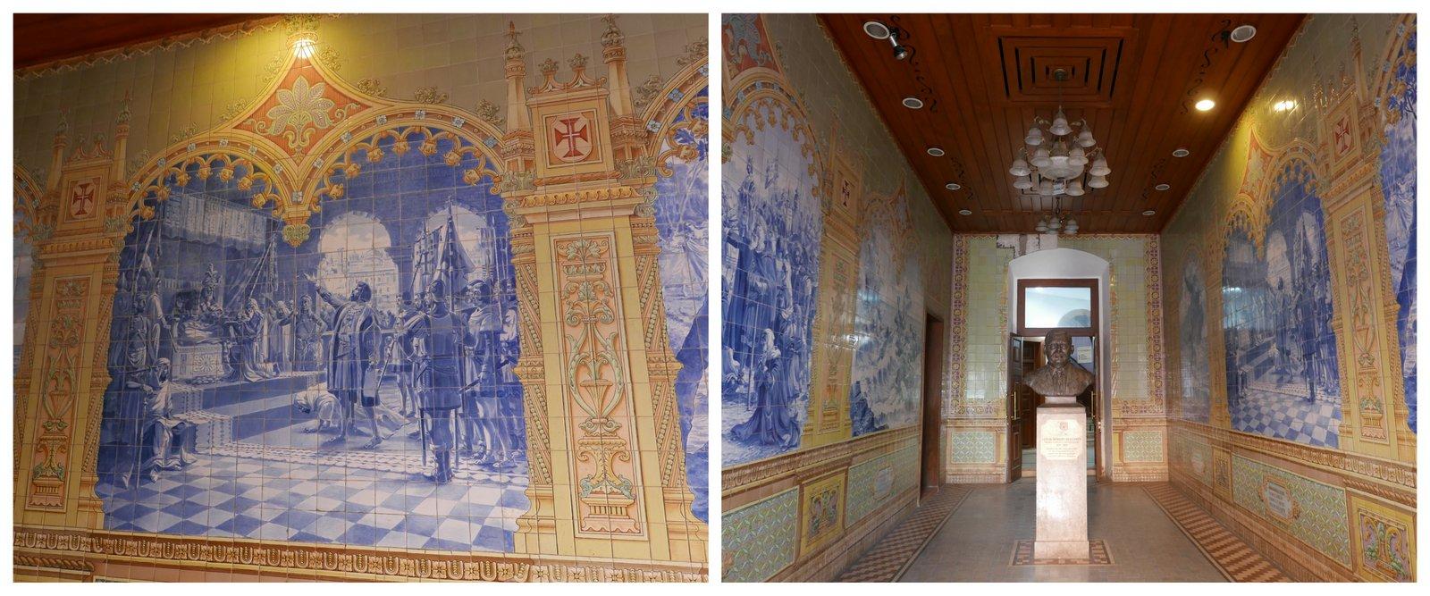 Les azulejos de l'Institut Menezes-Breganza à Paniji