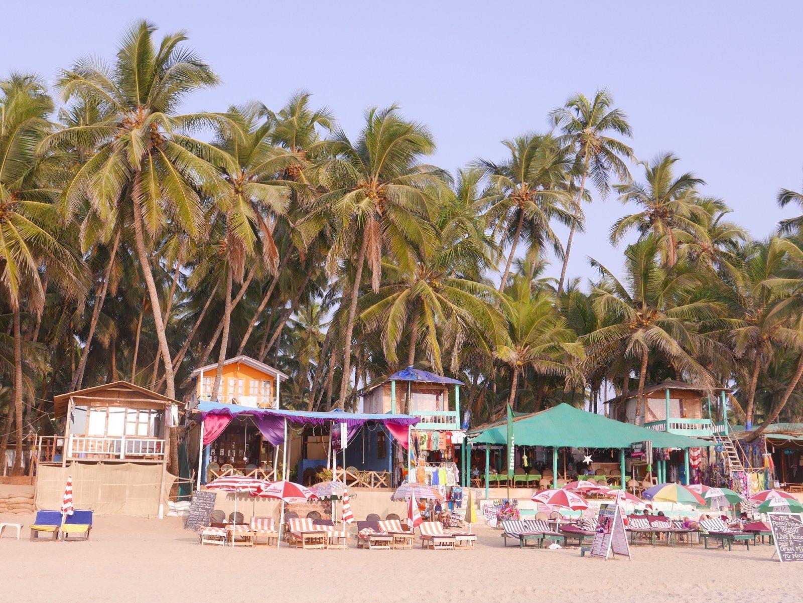 La plage de Palolem au sud de Goa