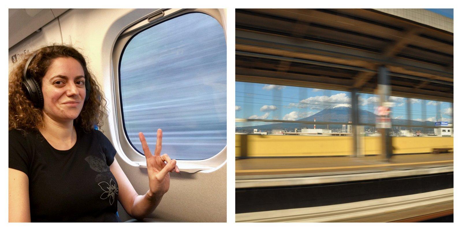 Voyage à bord du Shinkansen, le TGV japonais, entre Kyoto et Tokyo