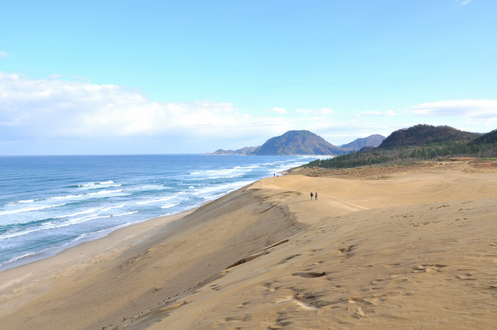 Les dunes de sable de Tottori sur les bords de la mer du Japon
