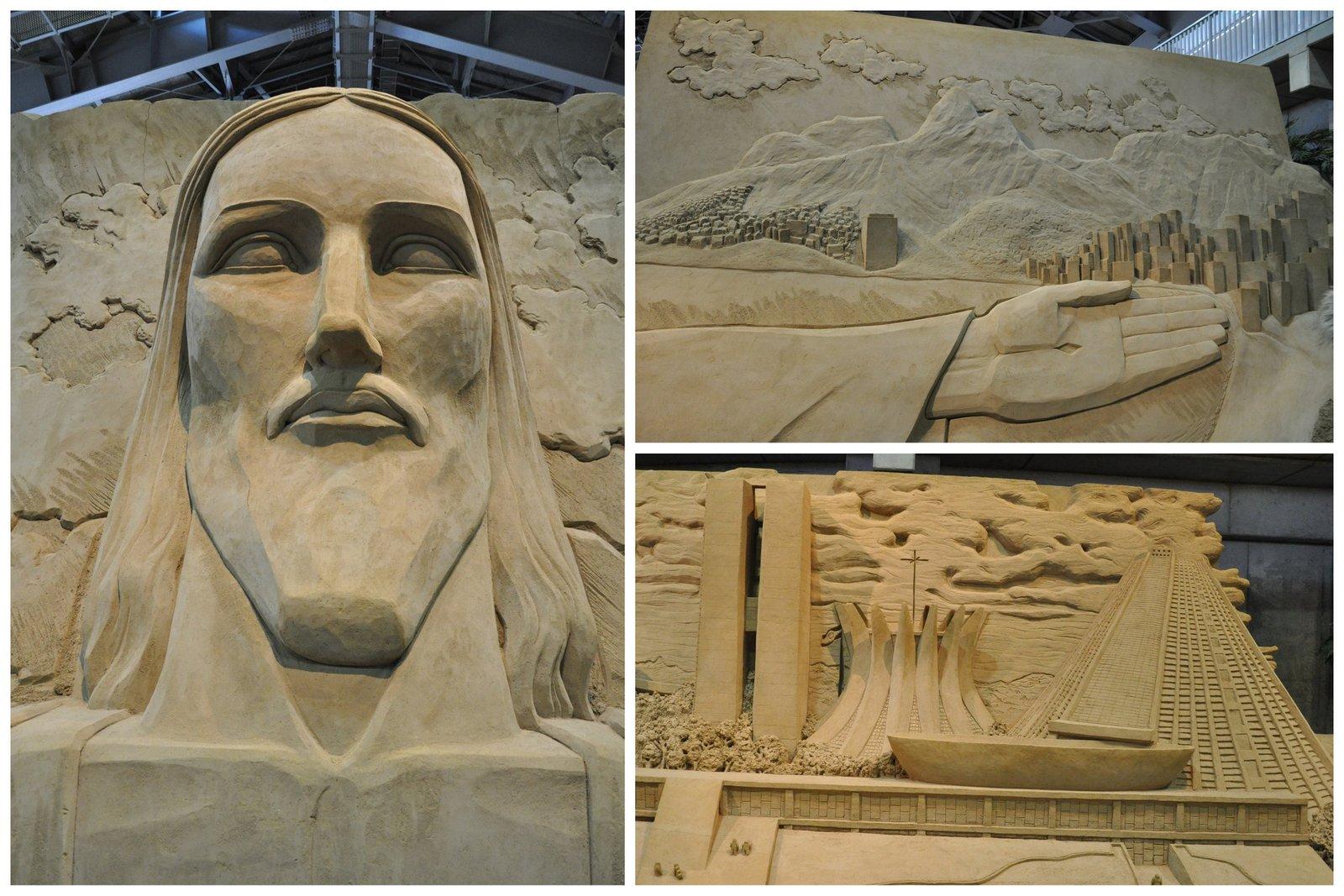 Le Christ Rédempteur et les plages de Rio de Janeiro et la cathédrale de Brasilia