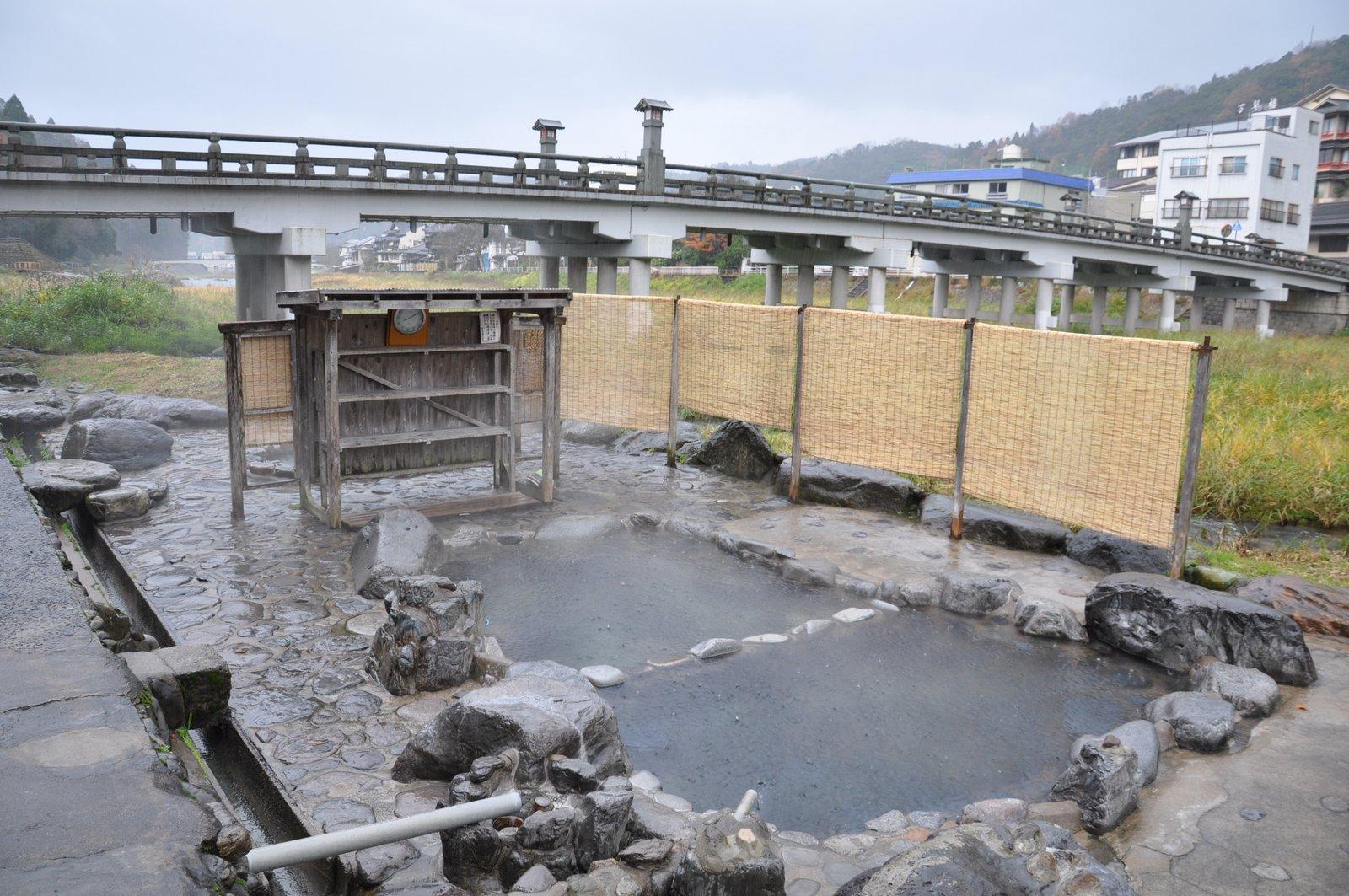 Onsen à l'air libre et gratuit à Misasa