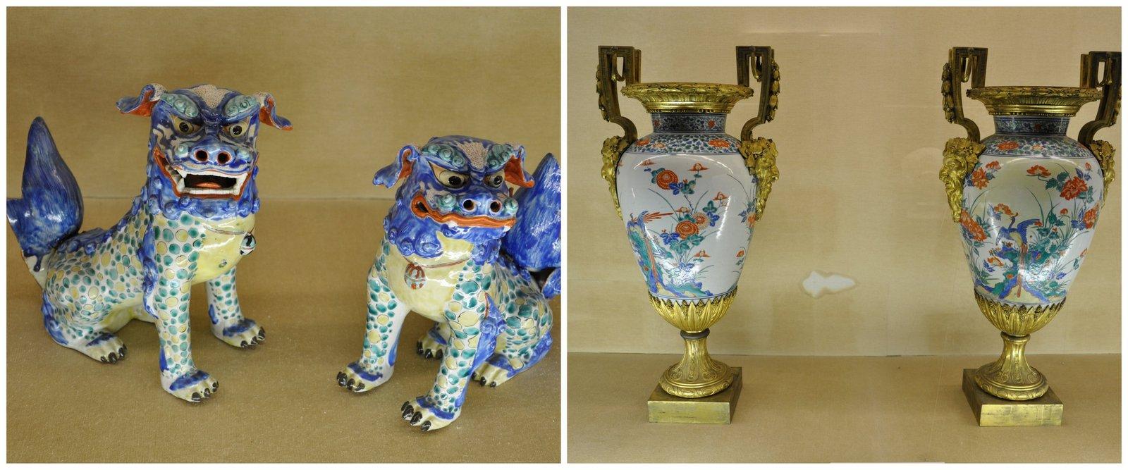 Céramiques exposées au musée de la céramique de Kyushu