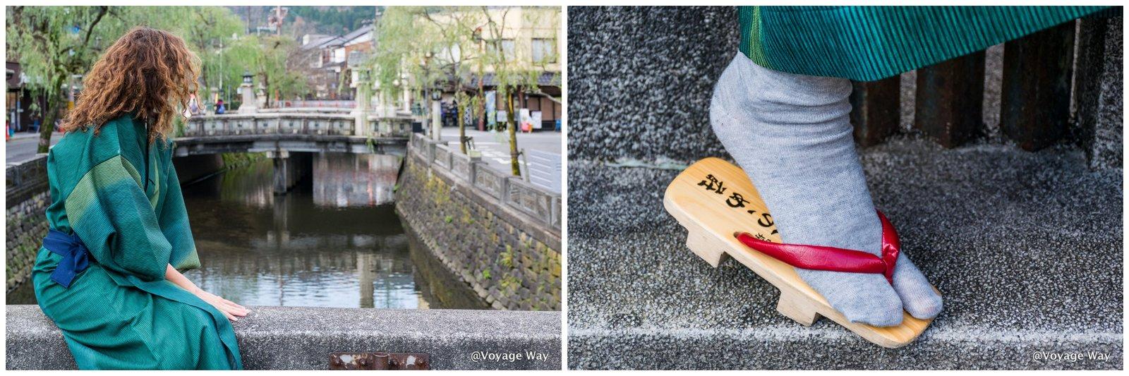 En yukata traditionnel à Kinosaki (crédit photo: Voyage Way)