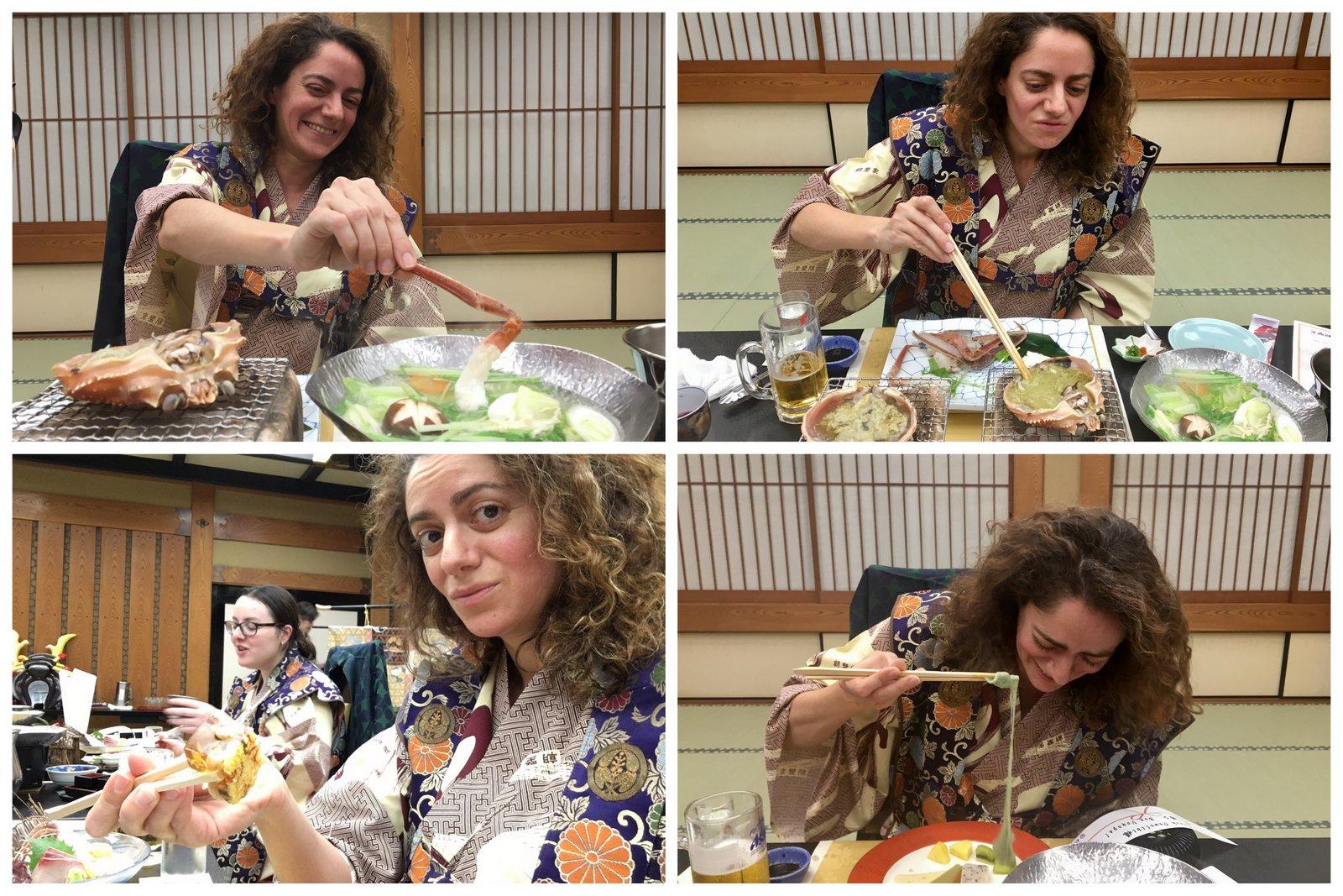 Repas kaiseki au ryokan Asanoya à Yumura au Japon