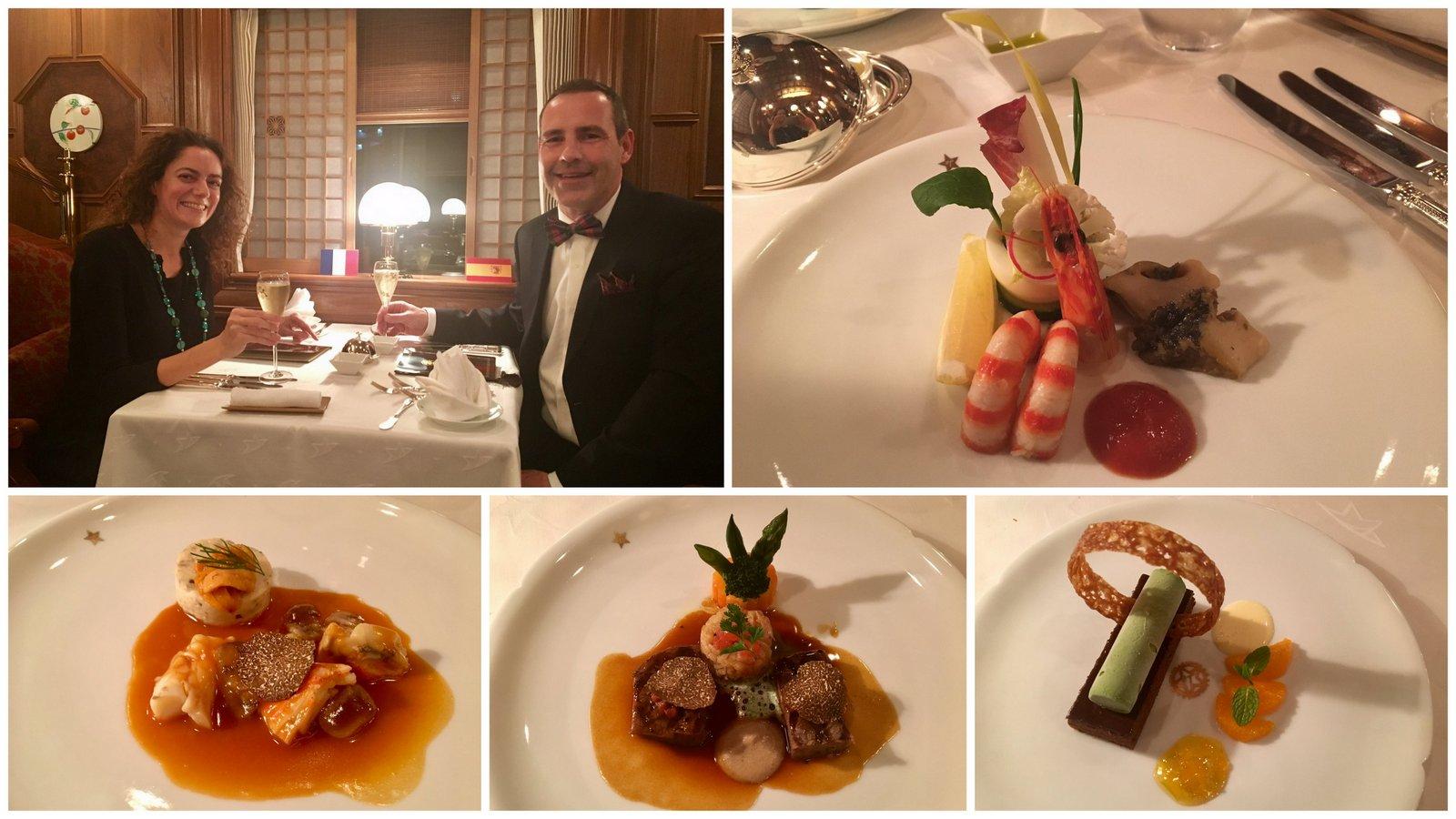Diner de gala avec cuisine française