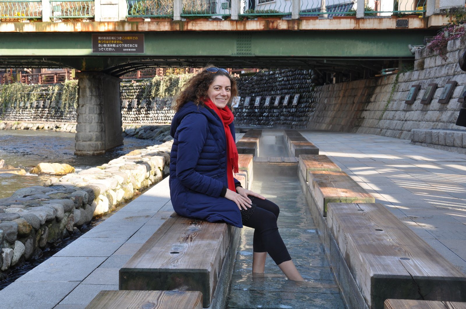 Onsen pour les pieds dans la ville de Yumura