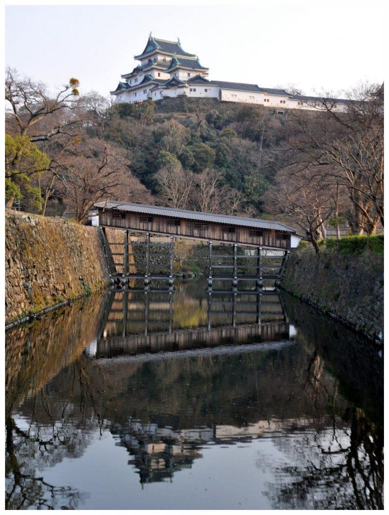 Le château de Wakayama et le pont Ohashiroka