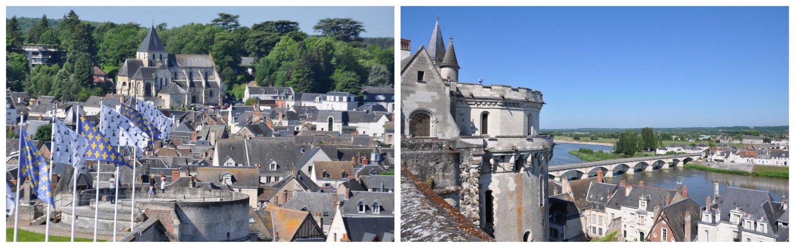 La vue depuis le château d'Amboise